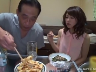 Asian babe have meal before nailed Hardcore in old and young clip