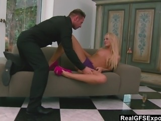 RealGfs Tight Blonde loves to please her man