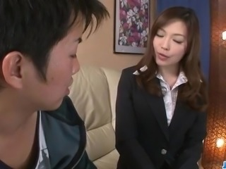 Naughty office blowjob by sexy Aiko Hirose