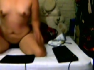My best friend masturbating with big sex toy in front of the camera