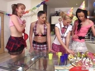 Phenomenal orgy with Bella D, Victoria I, Gina F and Kendy,Jaja
