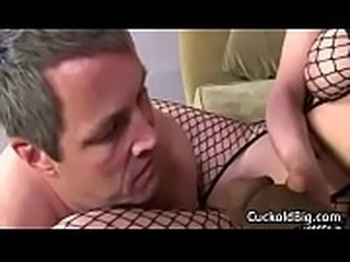 Cuckold Sessions - Hot Big Tit MILF Enjoy Big Black Cock WHile Hubby Watch 02