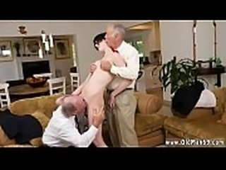 Old guys seduced and fucked by hot girls virgin first time Frannkie
