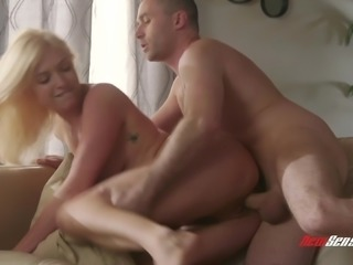 Adorable Giselle Palmer having her pussy fingered by James Deen