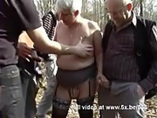 He shared his wife Murielle in an outdoor gangbang