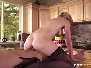 Cory Chase wears sexy stockings while being fucked hard