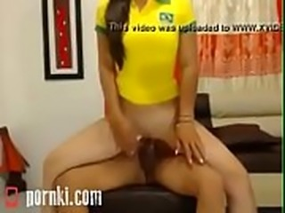 Pornki.Com - Brazilian girl in a double penetration