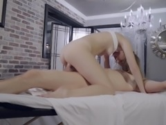 Alyce with long hair bend over taking dick hardcore