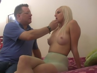 Charlize Danay seduced by a mature lover for a naughty sex game