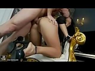 Anal whore Bettina DiCapri enjoys a rough anal pounding