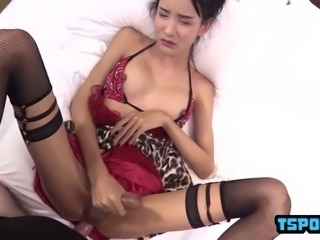 hot ladyboy anal sex with cumshot