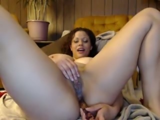 Amazing curly chubby webcam BBW exposed her mouth watering big tits