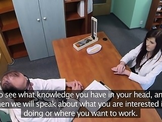 The long-awaited sex causes lustful doctor to begin groaning