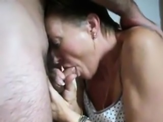 Amateur handjob and blowjob homemade
