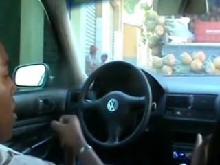Ebony Teen GF Gets Car Sex In Public!