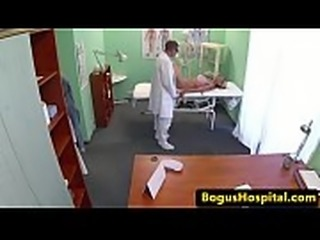 Amazing patient jizzed on ass by doctor
