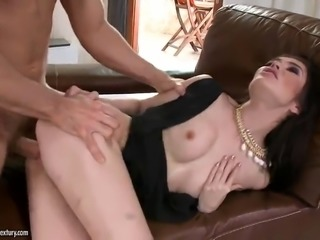 a mouthful of semen for tiffany fox after a hard fuck