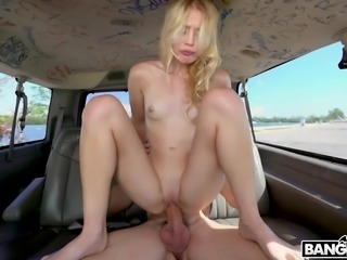 At first Bambino offered her to join him on a bang bus trip. Then he treated...