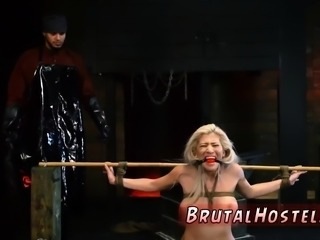 Bdsm pussy slapping first time Big-breasted blonde ultra-cut