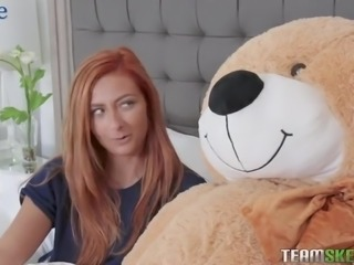 Horn-mad Kadence Marie switches from masturbation to pleasing her stud