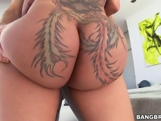 Her ass tattoo is fucking hot in the big dick anal video