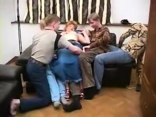 Russian milf gangbang