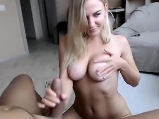 Amateur blonde deepthroat blowjob