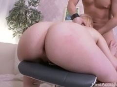 Wild slut Lolly Small enjoys taking the male sexual organ into her asshole