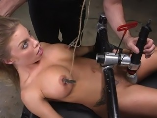 This is the third day of her week long slave training in the basement of the...