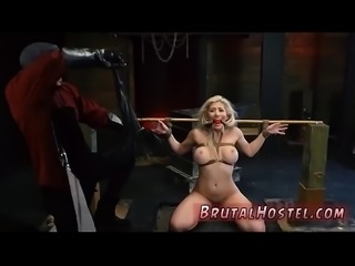 Extreme old man and bondage struggle fuck Big-breasted blond