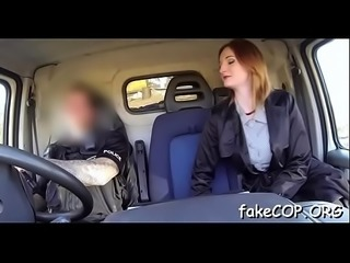 Non-stop fucking with a fake cop