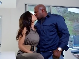 Incomparable MILF Lisa Ann is happy to ride her neighbor's fat big black dick