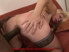 hot milf bends over 4 black master's fingers in rectum