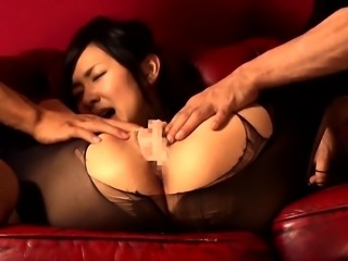 Delightful Japanese babe in lingerie knows what a cock wants