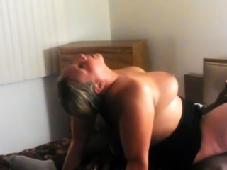 Curvy blonde milf takes a black dick for an exciting ride