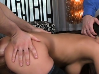 Busty euro spitroasted and blows cocks