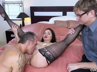 cuckolding her loser husband