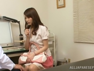 Japanese doctor seduces a milf and fucks her hot pussy in his office