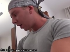 Euro Teen Throats Rocco & Chad-Takes Pounding Like Champ!