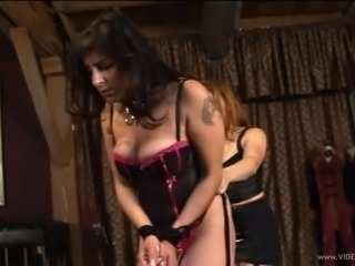 Fantastic Femdom action along babes spanking and torturing in BDSM clip