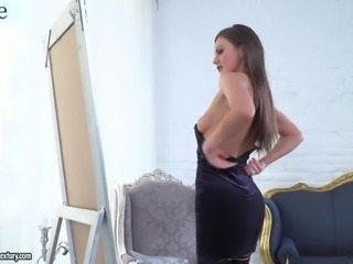 After blowing two tasty cocks likable Tina Kay gets her English holes drilled