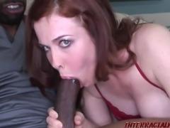 Redhead Mom takes biggest black cock