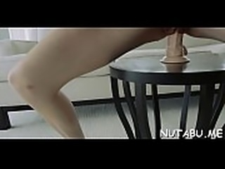 Teen babe gets off from deep and passionate bawdy cleft toying