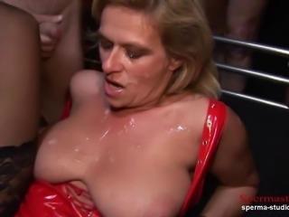Multiple Cumshots Orgy - Marina Part 1