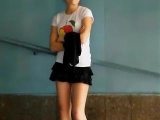 Upskirt Teen Thong