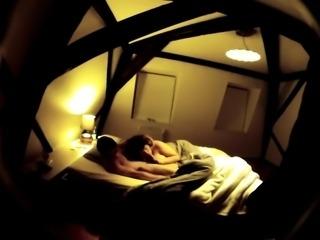 Horny mature couple enjoying passionate sex on hidden cam