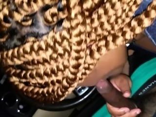 Amateur Ebony BBW Blowjob Messy Facial