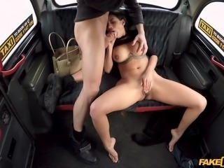 canela skin seduced the driver and sucks on his juicy dick