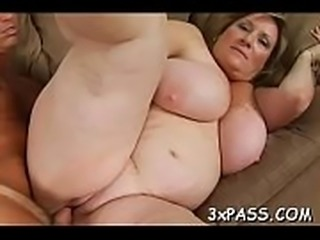 Heavy huge black dong enters mouth of sexy nasty plump