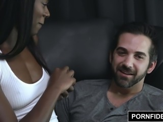 PORNFIDELITY Ana Foxxx and Donnie Rock Passionate Fucking